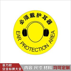 必须戴防护耳罩_视觉警示标识